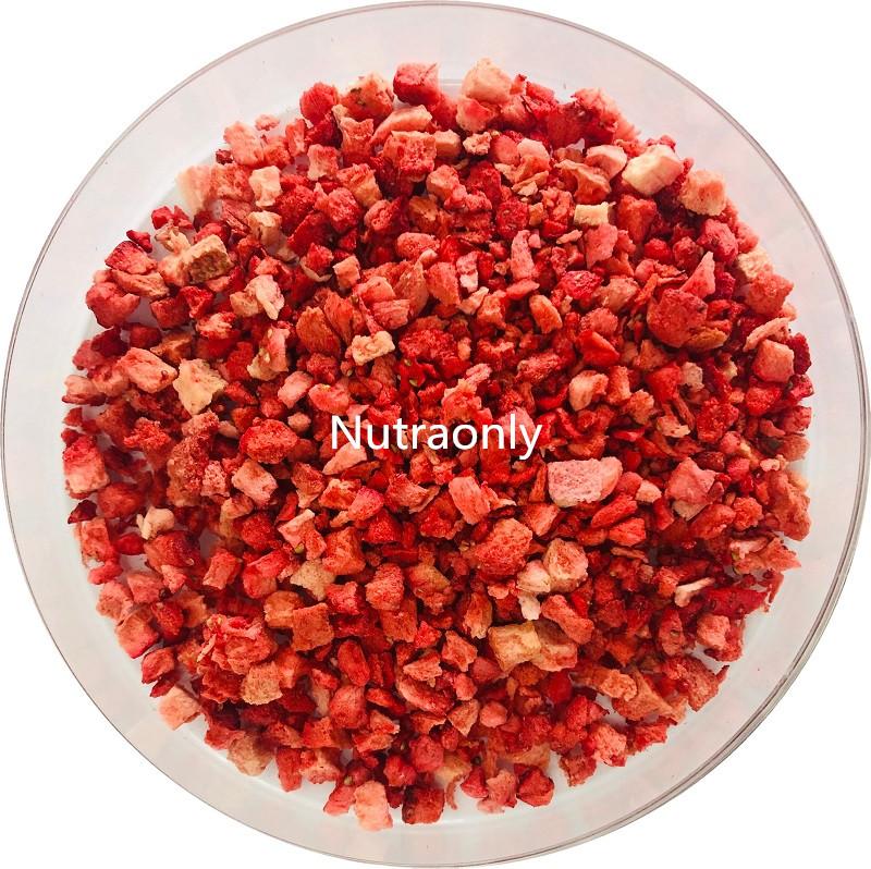 Kosher factory supply freeze dried strawberry bulk freeze dried strawberry powder/dice