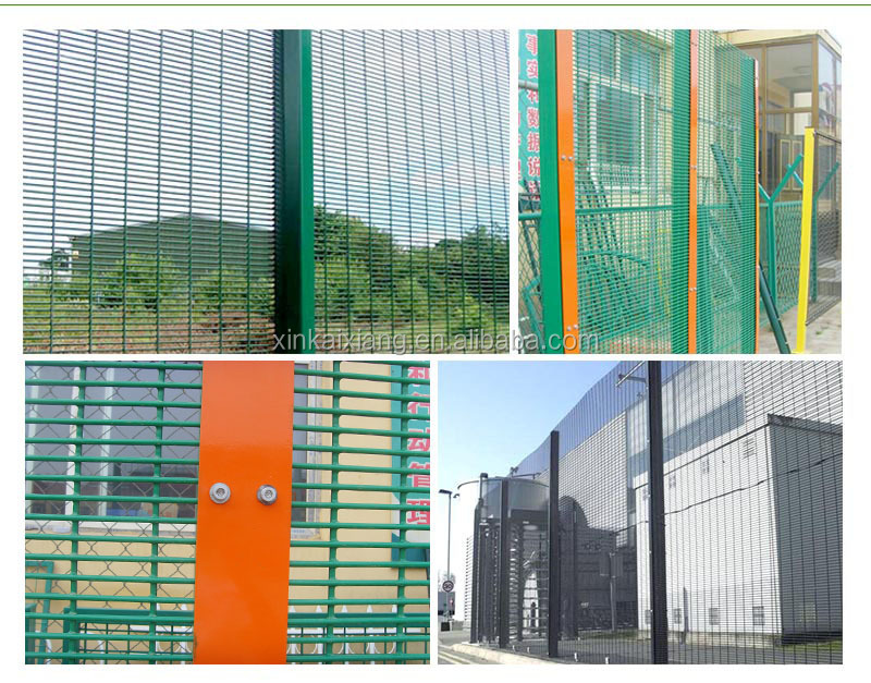 Galvanzized anti climb security fence welded wire