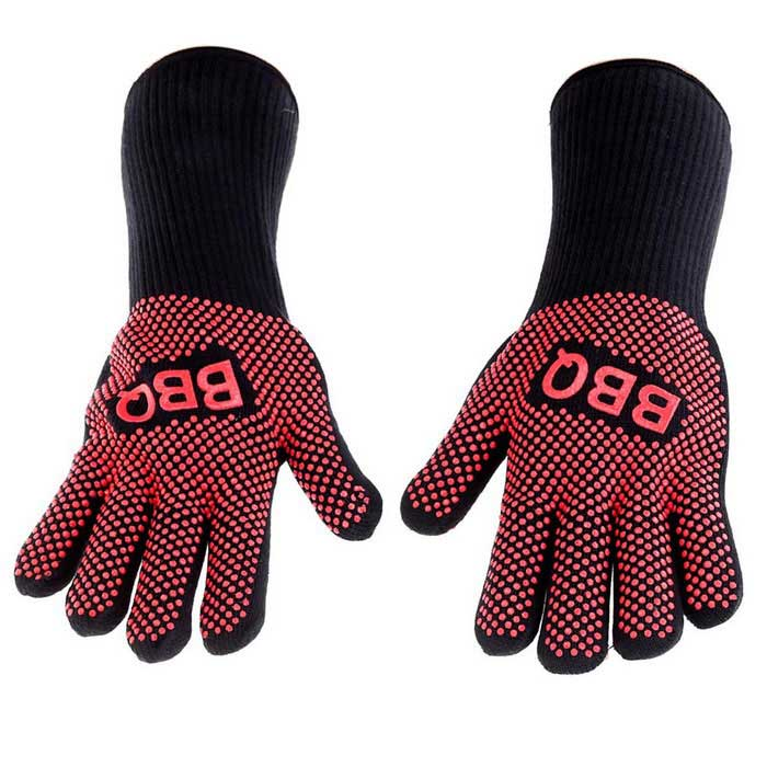 Hot Pan Holder ZM Safety Glove Heat Resistant BBQ Oven Gloves for Friends Party