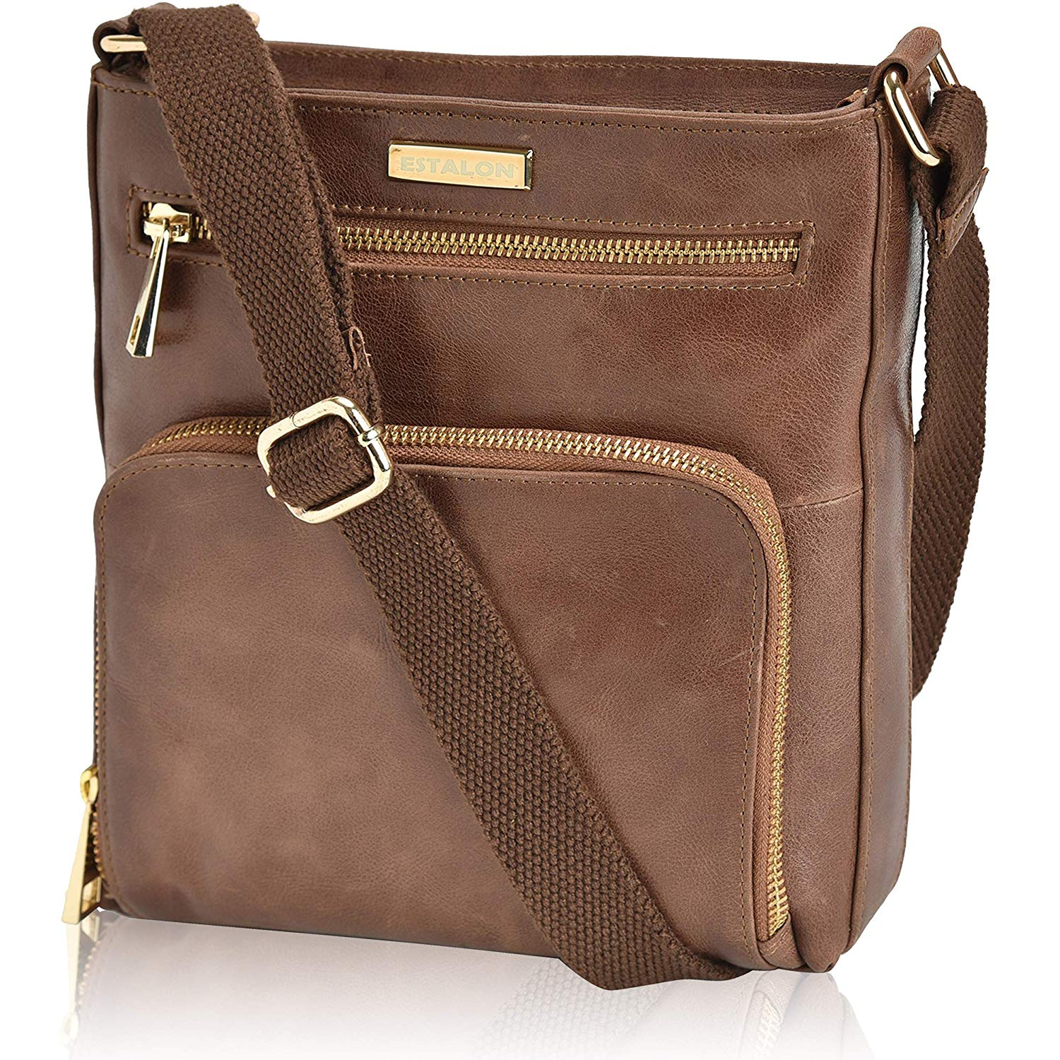8ff9c8a1beaa Get Quotations · Leather Crossbody Purses and Handbags for Women-Premium Crossover  Bag Over the Shoulder Womens