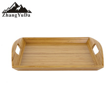 bamboo snacking tea food tray with handle tear tray serving tray