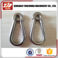 free sample stainless steel snap hook climbing carabiner price in China