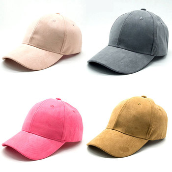 3a32e01b6b471 High quality Stylish Chinese Hot Sale New 2018 Suede Pink Baseball Cap Hats  For Men Womens