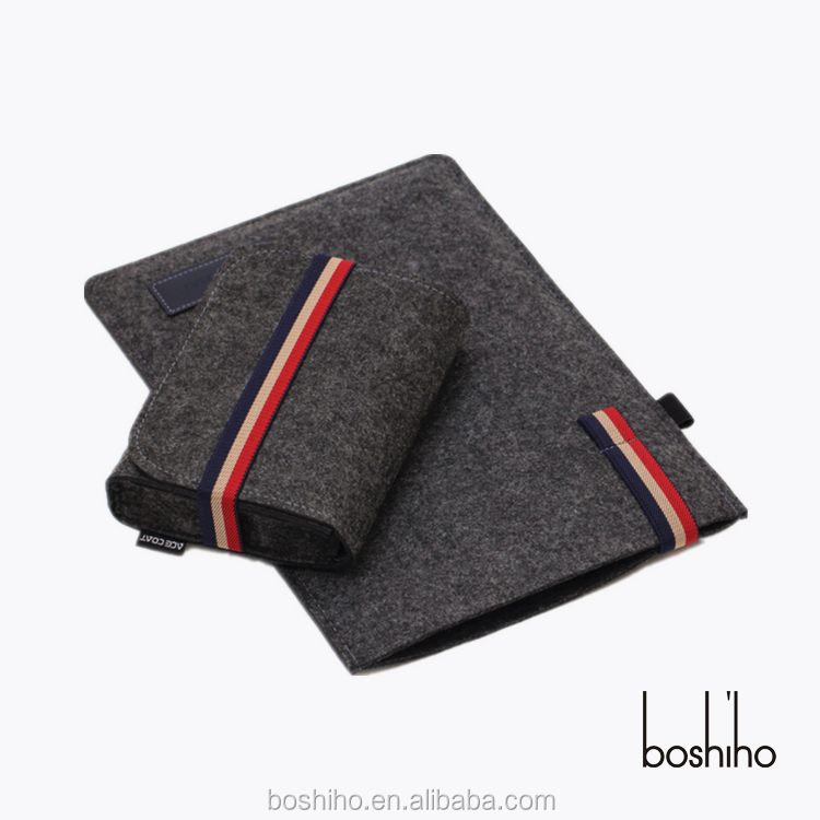 Boshiho Felt Wool Sleeve Elastic Laptop bag case for Apple Macbook