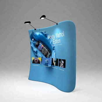Exhibition Booth Backdrop : Hot selling 20ft straight fabric photography backdrop display