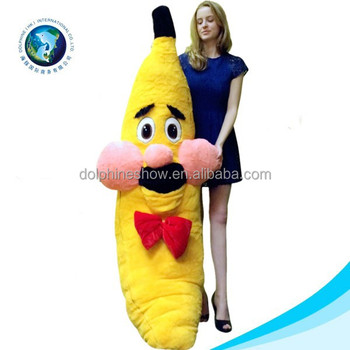 Large Plush Monkey With Banana Soft Stuffed Big Banana Plush Toy