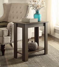 Cheap wooden L shape leg design end table for sofa side use