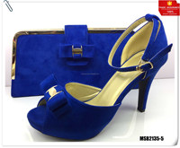 Mikemaycall italian luxury brand royal blue shoes women clutch wedding and party