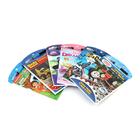 Softcover flip coloring cartoon book with pen for kid print