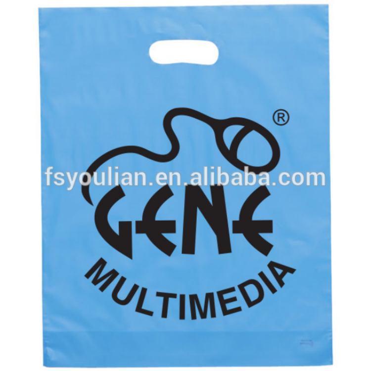 Лучшая стабильность пользовательских печати складные покупки высечки полиэтиленовый пакет