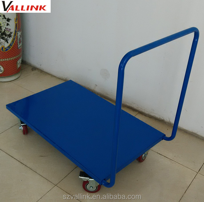 150kg grocery steel structure collapsible rubber platform handtruck