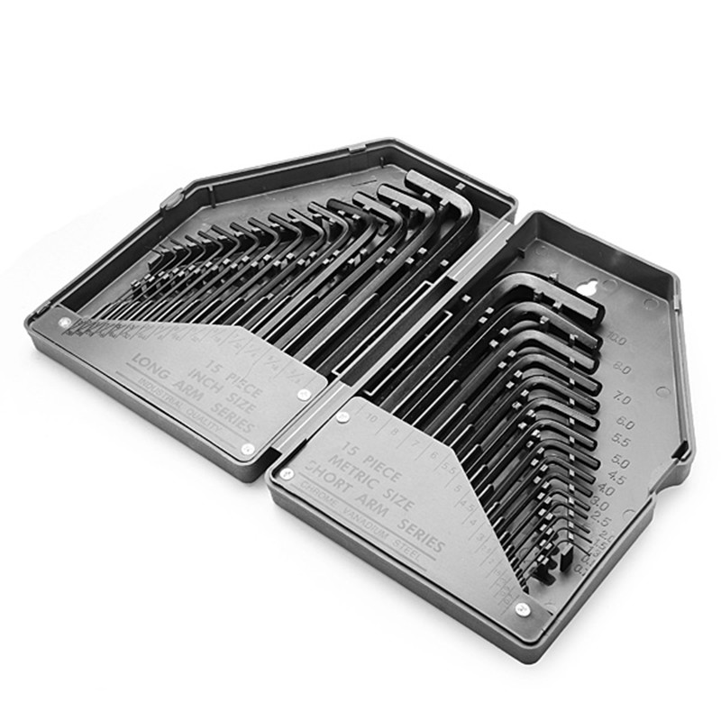 Furniture Furniture Accessories 30in 1 Hex Key Wrench Set Allen Key Set Precise Manual Tool For Auto Repair Wrenches Spanners Hand Tools