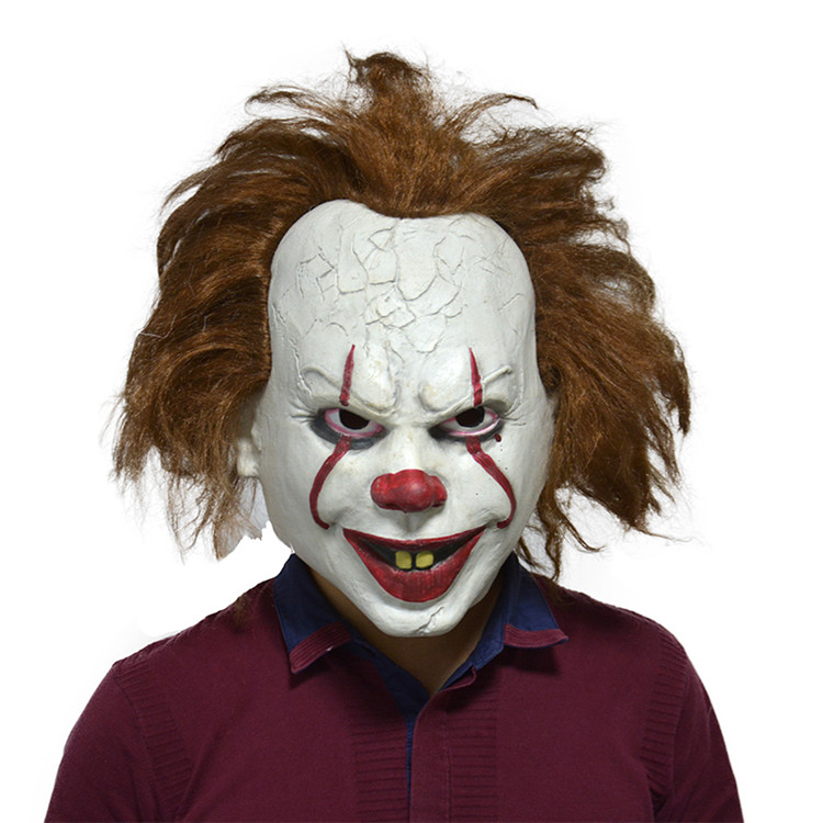 2019 nieuwe film Stephen king's Kostuum Halloween Enge Horror pennywise Het Killer Joker Latex Clown Masker