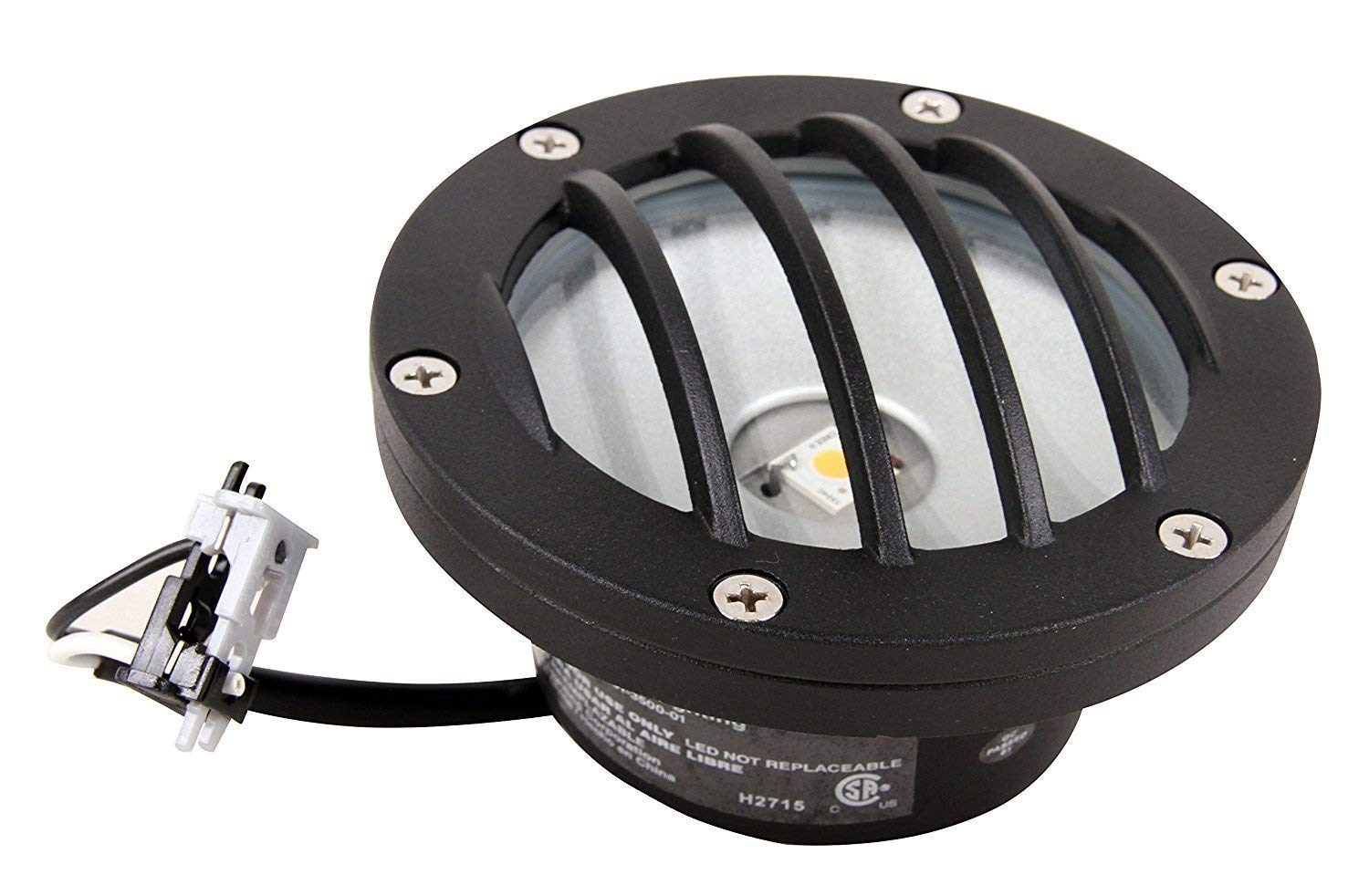 7 Watt 3 Pack of Malibu 8301-2402-03 Half Brick Deck Step Light w// 2 Lenses ea Black BY MALIBU DISTRIBUTION