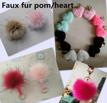 Wholesale fur pom poms/faux fur ball/pompom fake fur