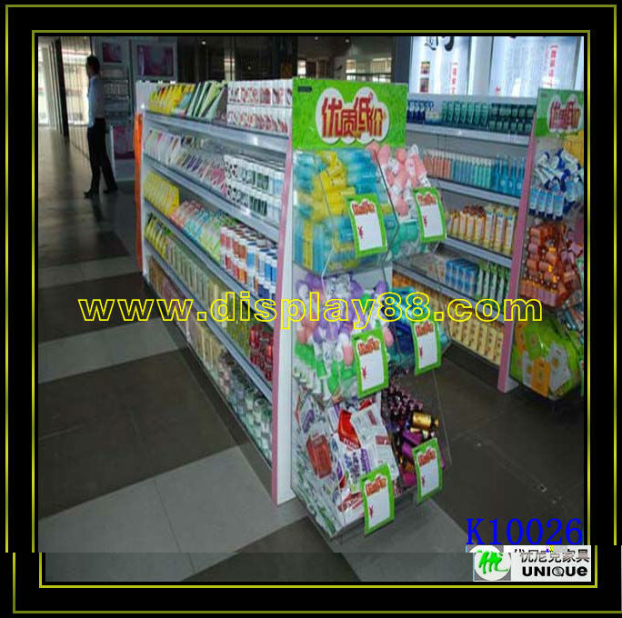 Useful factory made stationery display rack/display racks for pharmacy/dispaly shelves to use in supermarket