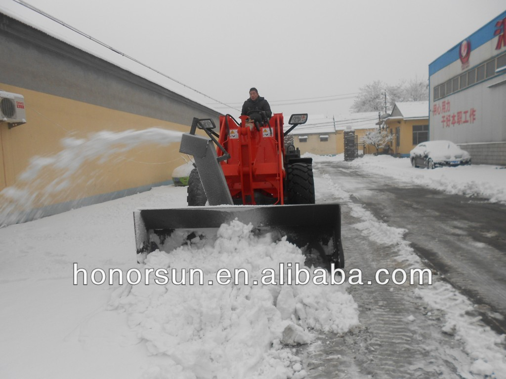 small wheel loader with snow blowers