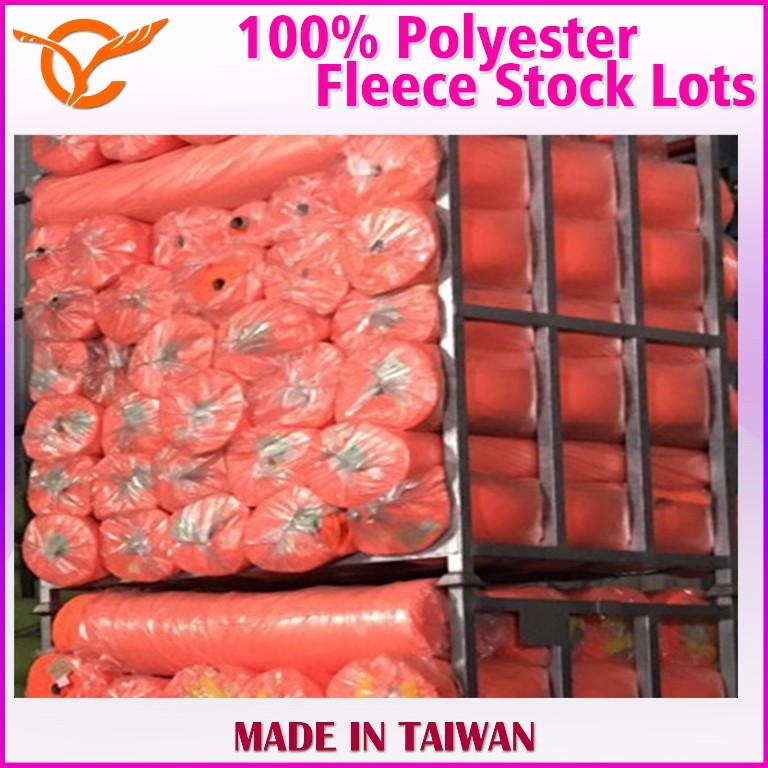 Taiwan Top Quality 100% Polyester Fleece For Pet Hut Cloth Stock Lots