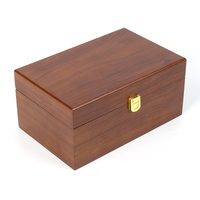 tea bag storage wood remote storage box chinese food box