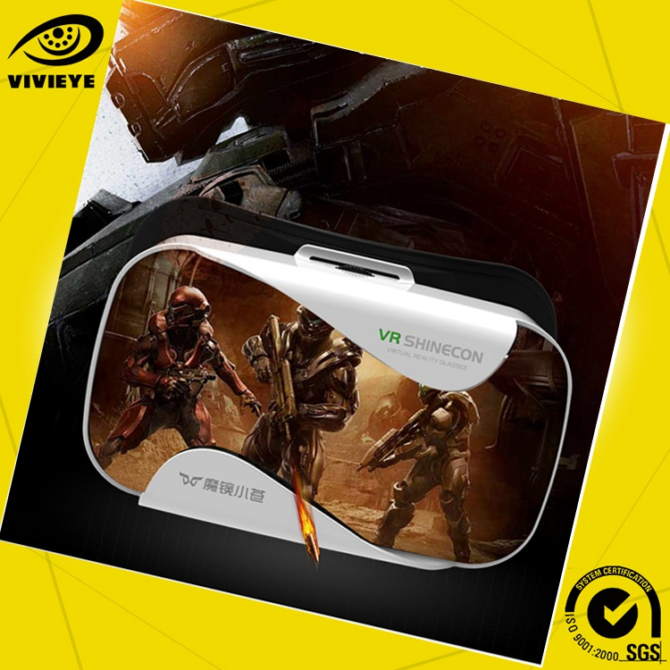 Mobile styles box vr 3D glasses for free mobile video