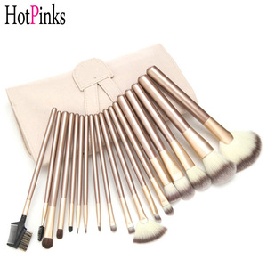 Custom Pro 24 Pcs Makeup Brush Set Foundation Powder Eyebrow Eyeshadow Blending Concealer Cosmetic Brushes with Case