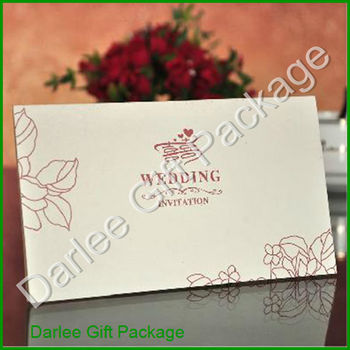 White Wedding Invitation Cards Letter Design Muslim Card