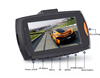 Smallest HD Car DVR Camera 720P GPD6624 Car DVR Video Recorder with 120 Degree Wide View Angle Motion Detection