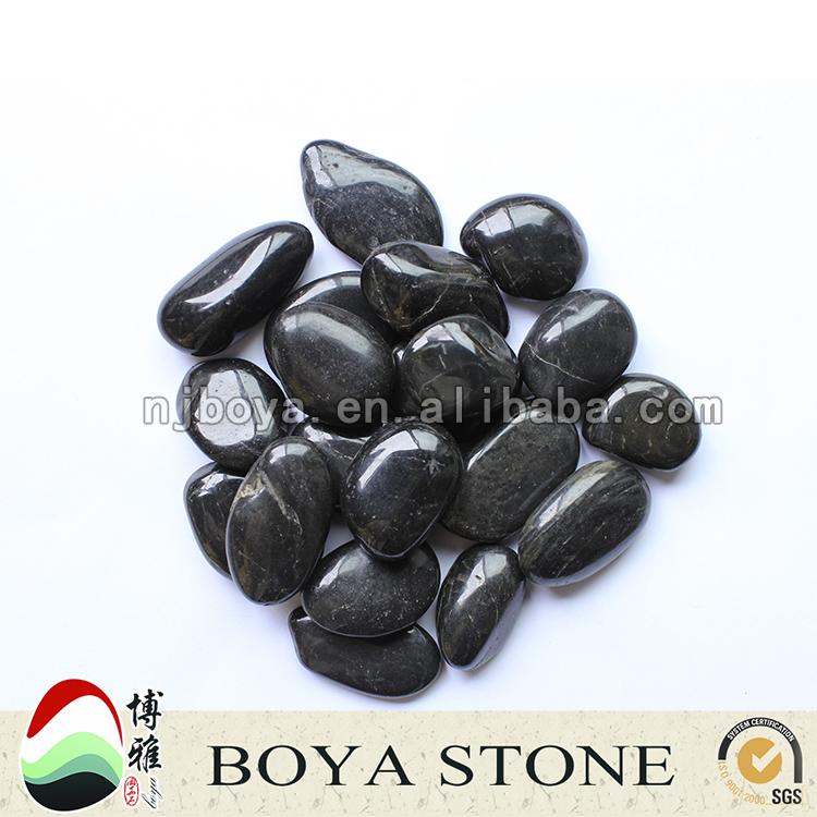 Zwart gepolijst natuurlijke keien voor tuin decoratie tuin stenen japanse tuin stenen - Decoratie stenen tuin ...