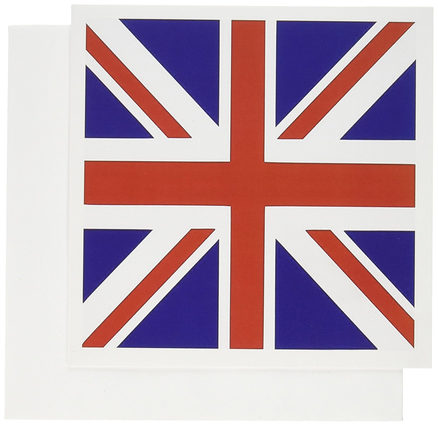 3dRose British Flag Red White Blue Union Jack Great Britain United Kingdom Uk England English Souvenir Gb Greeting Cards, 6 x 6 Inches, Set of 6 (gc_159852_1)