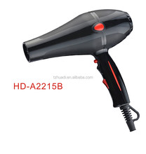 Huadi hot selling hair dryer for professional and home travel use with AC motor 800 hours lifespan