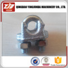 hot galvanized malleable wire clips A type wire rope clip electrical wire clamp