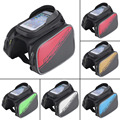 Cycling Bicycle Front Top Tube Frame Double Bag for 4 2 Cellphone Phones free shipping