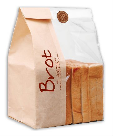 Custom Printed Paper Bread Bag With