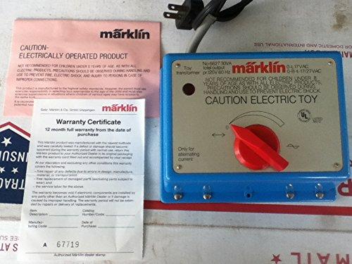 MARKLIN HO VINTAGE METAL HEAVY ANALOG TRANSFORMER 110VOLT. - 30VOLT.-AMP. MODEL 6153 (LAST EDITION)
