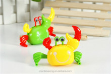 Baby Cartoon Crabs Walking Sideways Clockwork Toys Eyes Hands Feet Movable Kids Toy Infant Plastic Animals Wind Up Toys