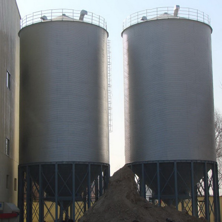 Hot sale 1000ton hopper bottom steel grain silo rice corn storage silo