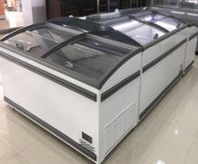 Big Capacity Curved Glass Top Island Freezer Used Supermarket Refrigerator and Freezer