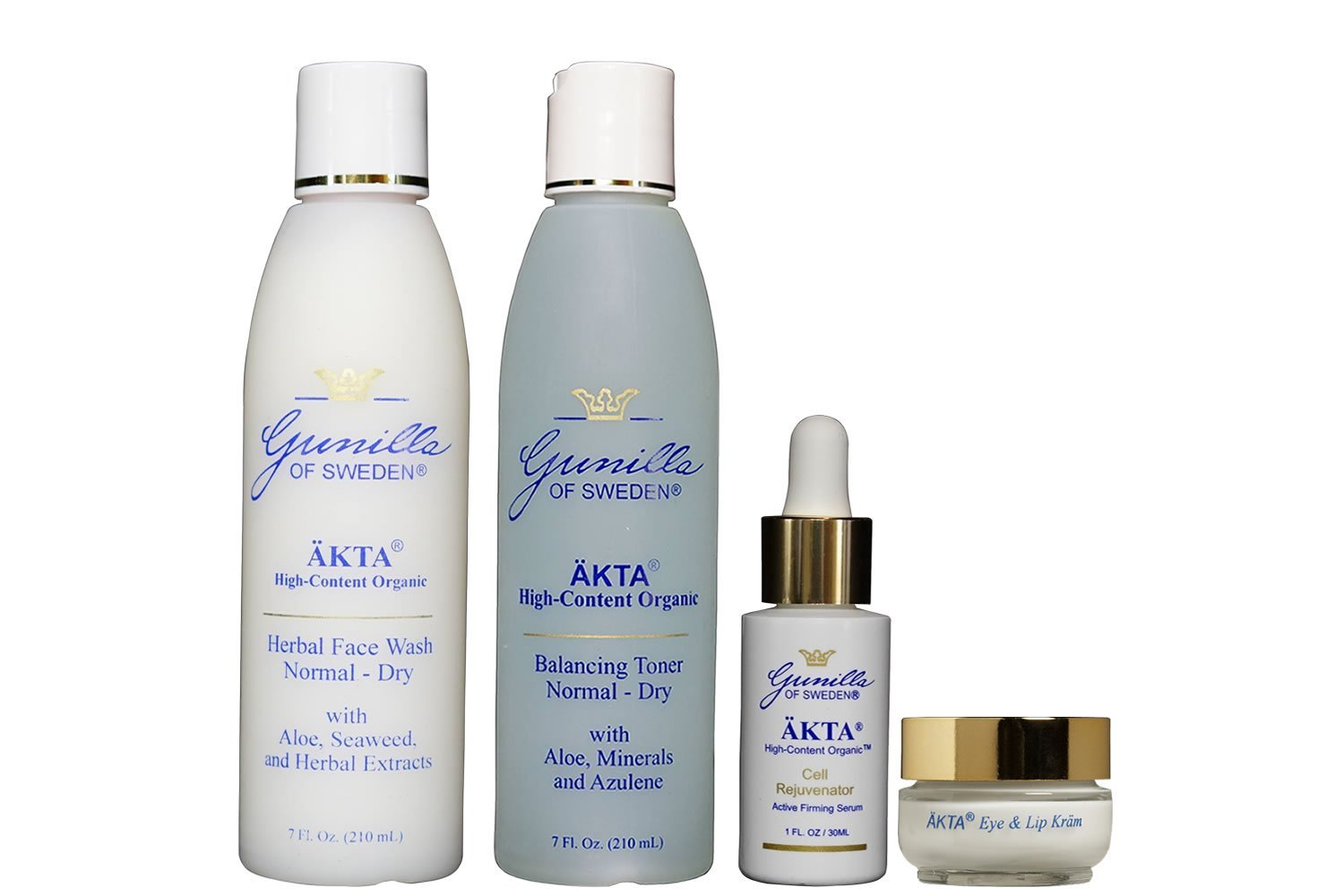 ÄKTA by Gunilla of Sweden Anti-Aging Skin Care System (Mature Skin): Based on Nutrient Rich Organic Aloe- Organic Botanical Extracts Provide Anti-Aging Benefits- Alcohol and Oil-Free