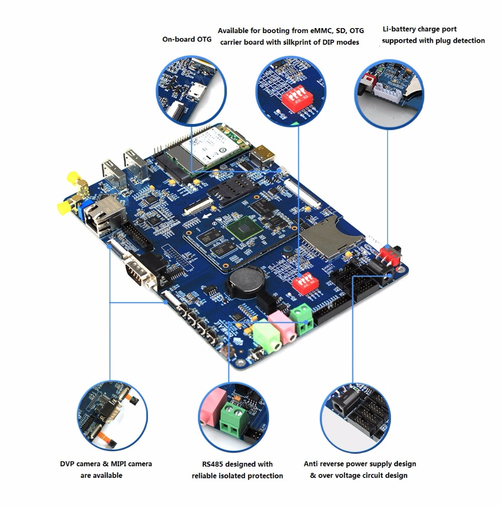 Embedded System A53 Octa Core Development Board S5P6818 SoC Supports MIPI LVDS Display Output