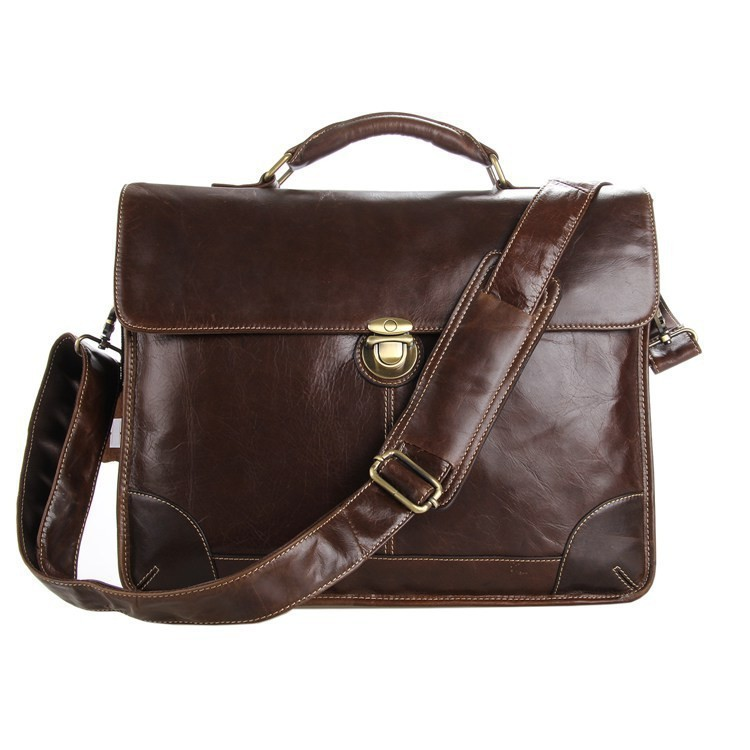 8e2fda8be2d1 Get Quotations · Cool Men s Briefcases Louis Handbag for Document Laptop  Business bags Coffee 100% Genuine leather Portfolios