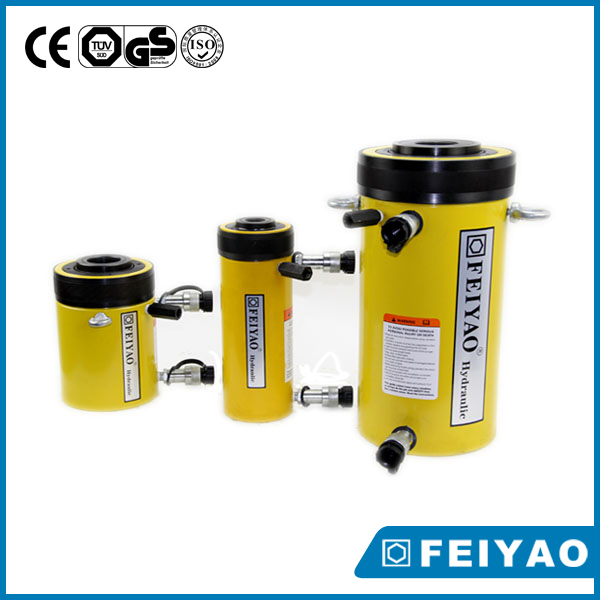 CE approved 550 ton double acting hollow hydraulic jacks