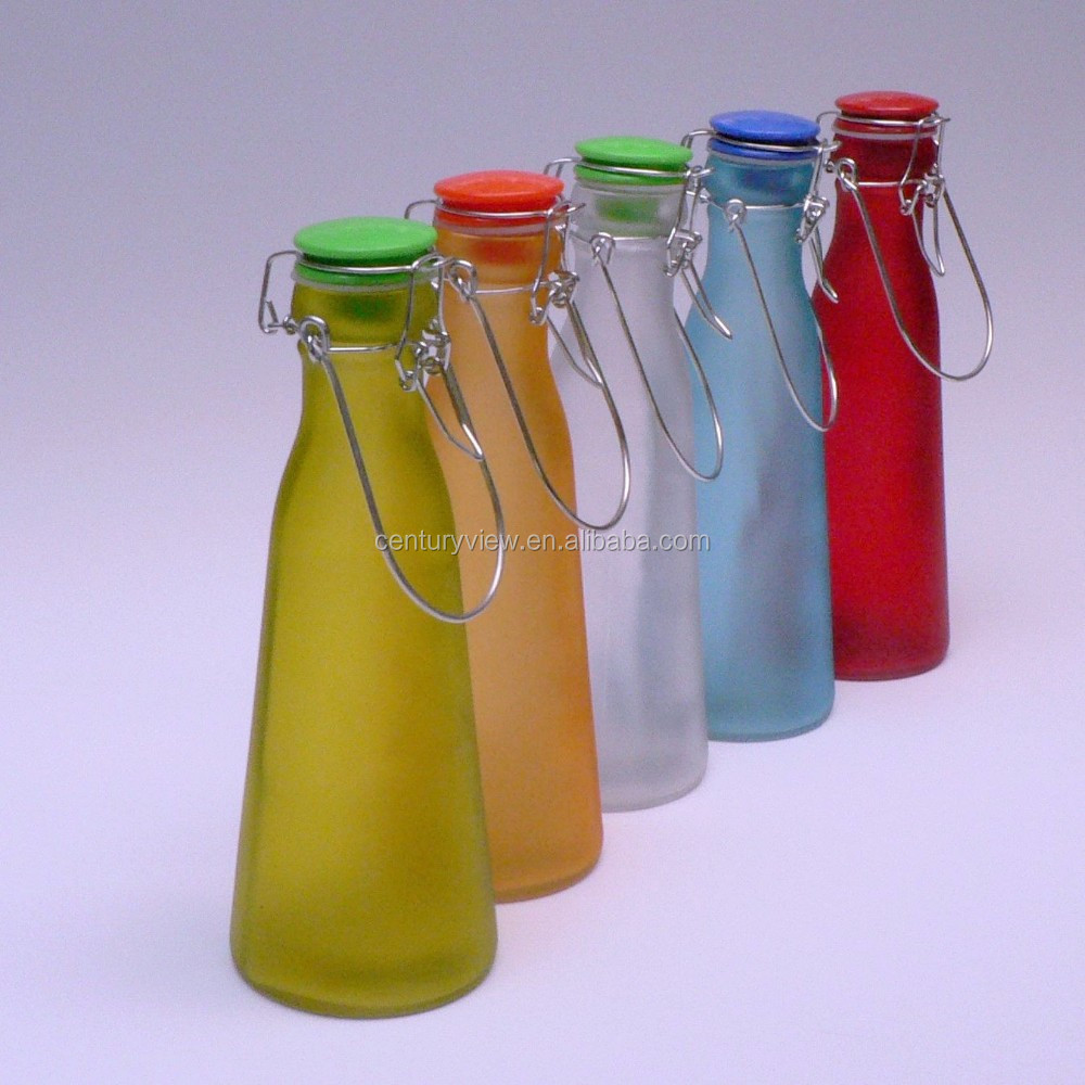Decored Beverage 1 Liter 1000ml Wine Juice Water Milk Glass Bottle ...