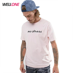 Wellone factory oem high quality combed cotton logo pink men embroidery custom t shirt