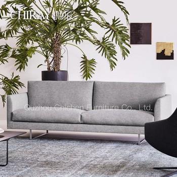 Modern Design Stainless Steel Leg L Shape Sleeper Fabric Cozy Corner Sectional Sofa Set