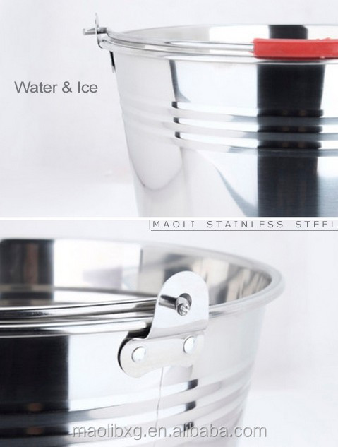 Ice Water Buckets for bar Hot sale stainless Steel