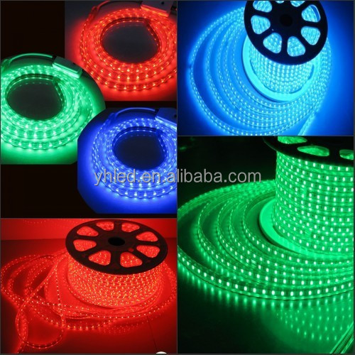 PVC Lamp Body Material Red/Yellow/Blue/Green/White/Warm White 5050 flexible smd led strip light Rgb Led Christmas String Lights