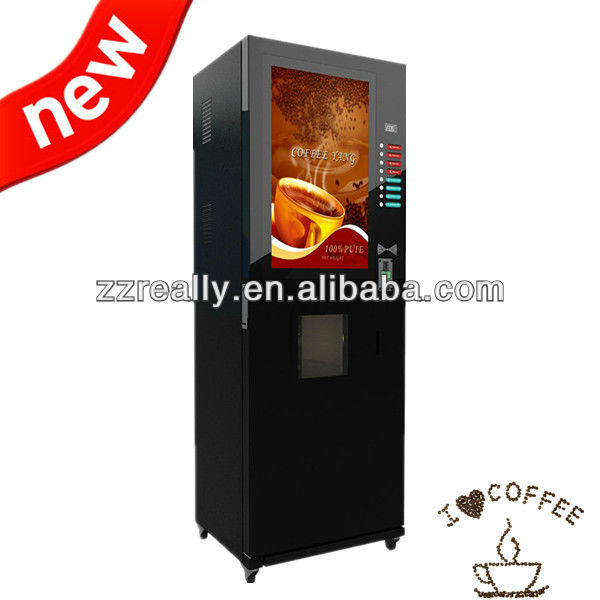 Automatic cup dispenser coffee vending machine RE306D-32G with CE approved