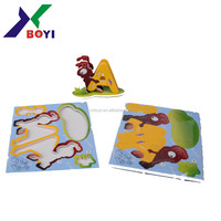 DIY hot sale foam soft large 3D fox paper foam EPS puzzle