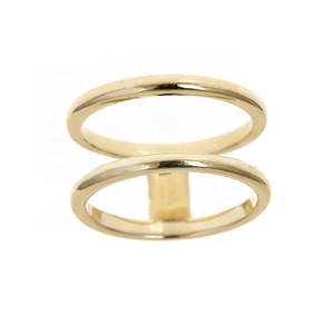 Wholesale china 925 silver double band gold finger men ring without stone