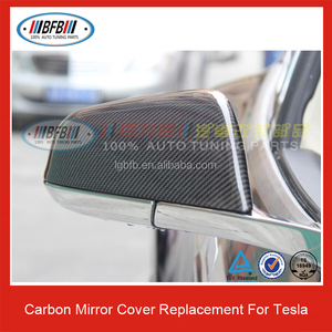 Replacement Carbon Fiber Mirror Cover Side Mirror Cover for Tesla S Model S  2012 UP (Fits: Tesla)